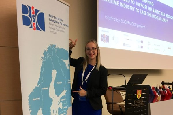 ECOPRODIGI project manager Milla Harju ready to open the session.