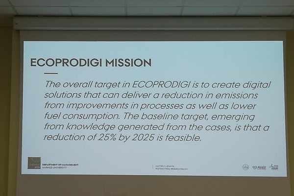 Could this be the mission for ECOPRODIGI?